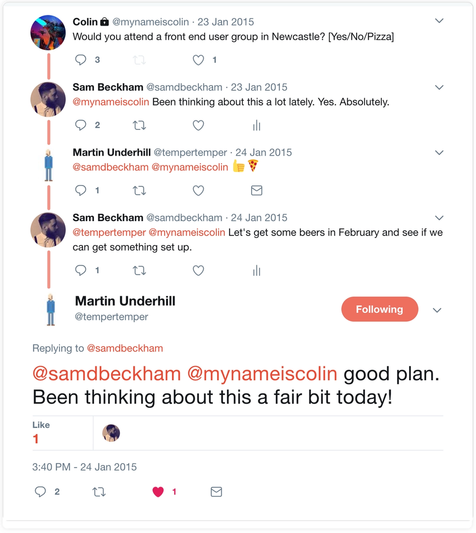 The tweet chain that started it all