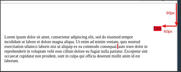 Beispiel Position:Absolute