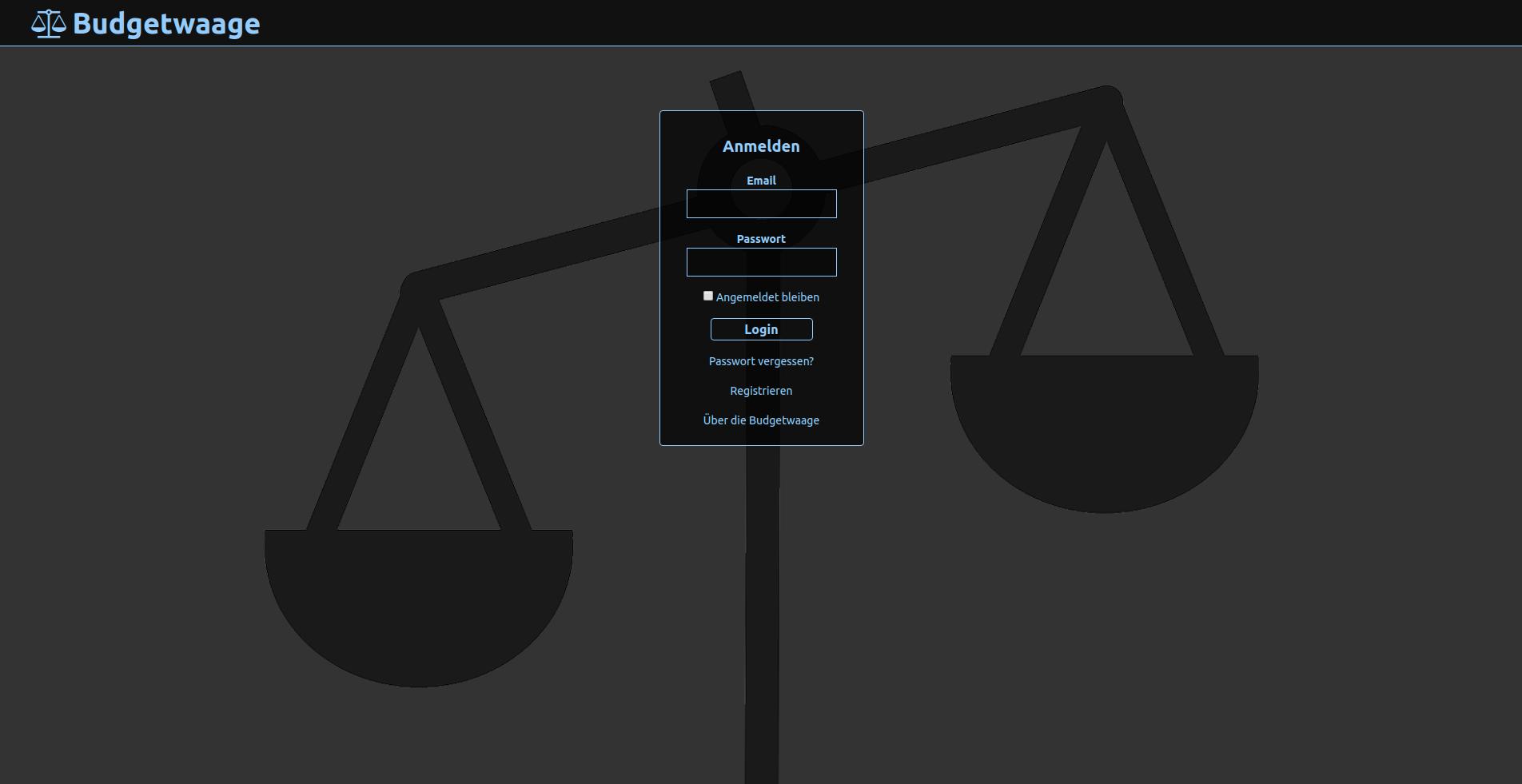 Screenshot Budgetwaage 1