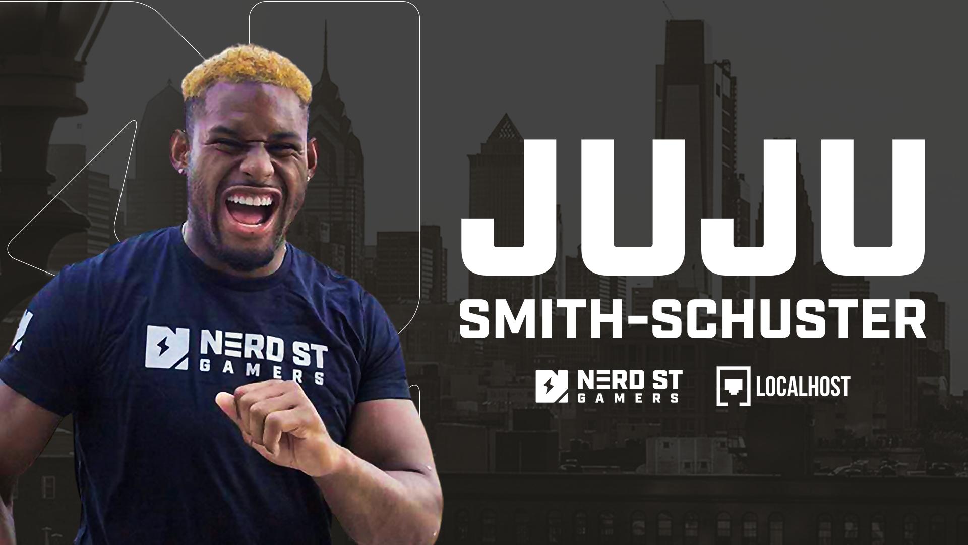 Pittsburgh Steelers wide receiver JuJu Smith-Schuster in Nerd Street shirt