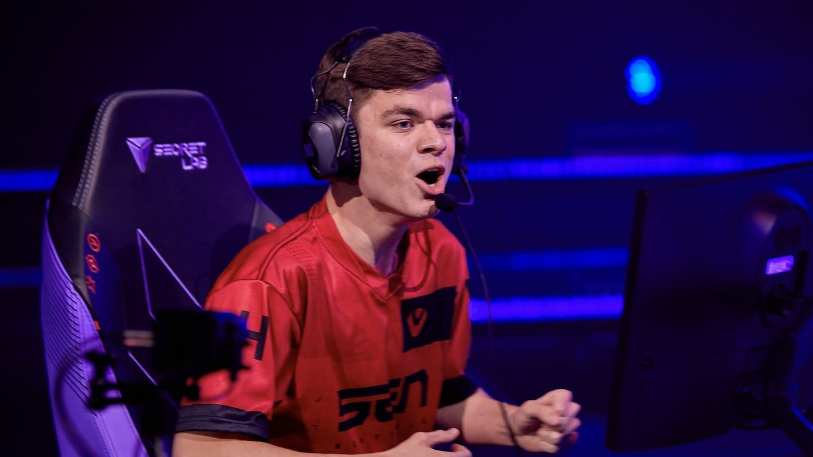 Sentinels Valorant player Sick reacts excitedly to a play