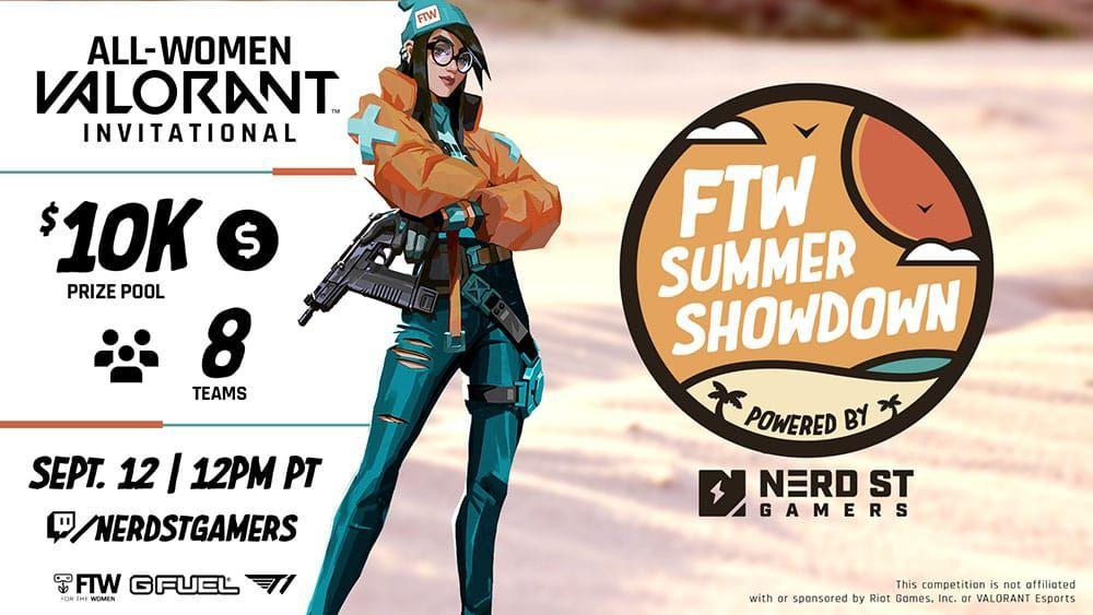 Nerd Street Gamers and Spectacor Gaming Partner to Host Largest All-Women VALORANT Tournament on September 12