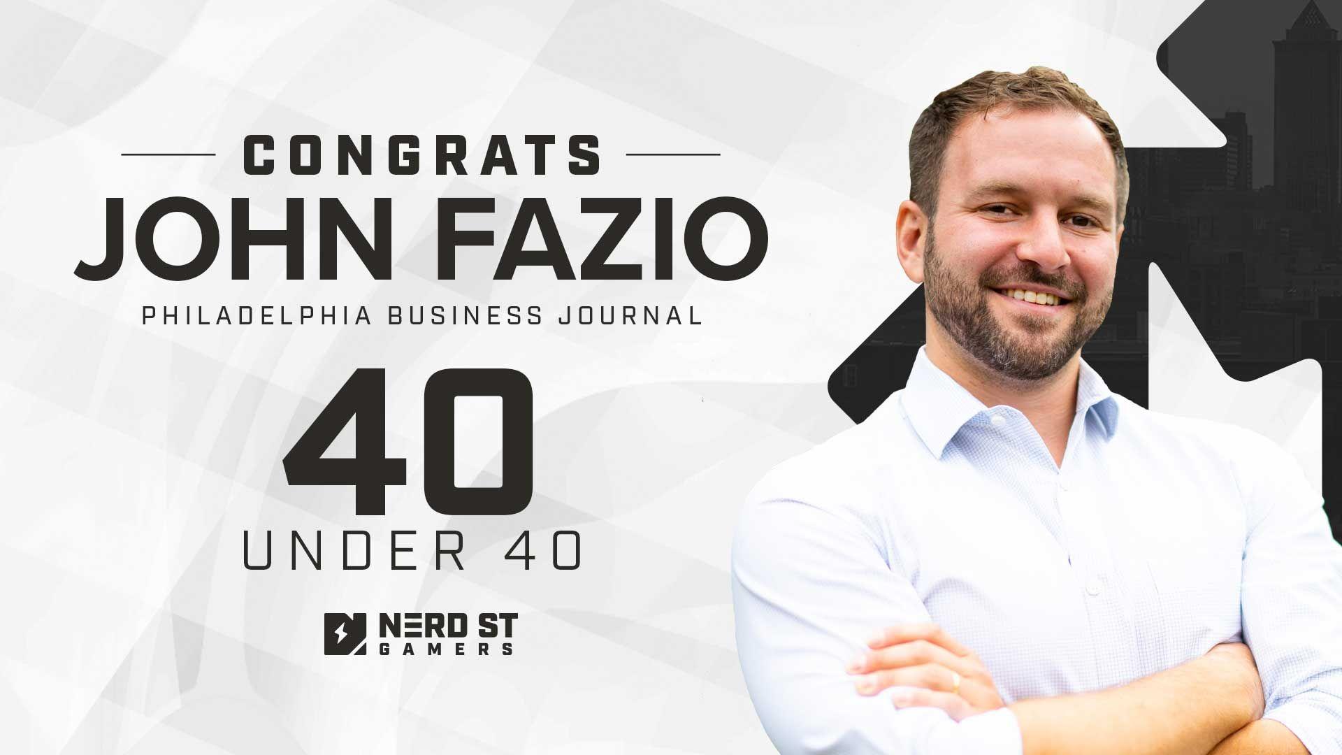 Nerd Street Gamers' Founder John Fazio Named To Philadelphia Business Journal '40 Under 40' List