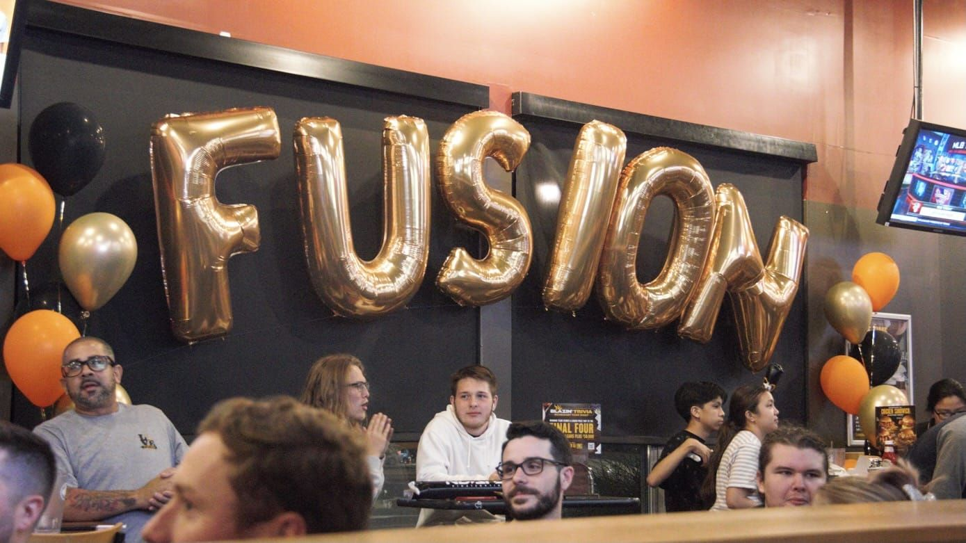Philadelphia Fusion fans gather at a bar to watch their team