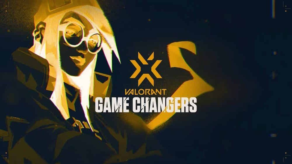 Valorant Game Changers logo in black and yellow with Killjoy agent in background