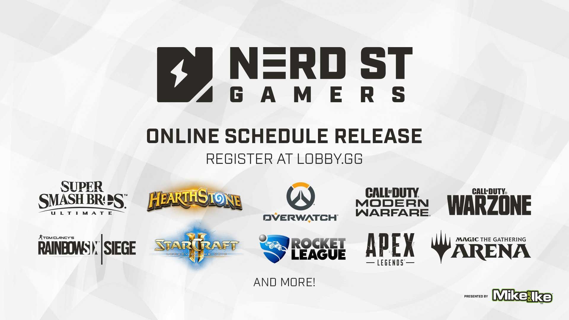 Nerd Street Gamers Release Online Tournament Lineup