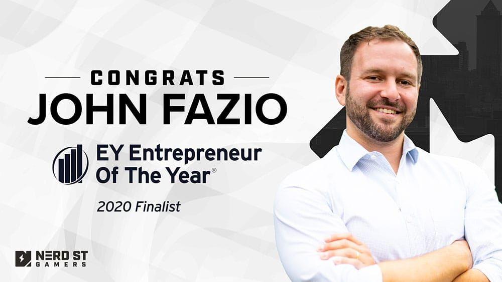 Nerd Street Gamers Founder and CEO, John Fazio, Finalist for EY Entrepreneur of the Year 2020