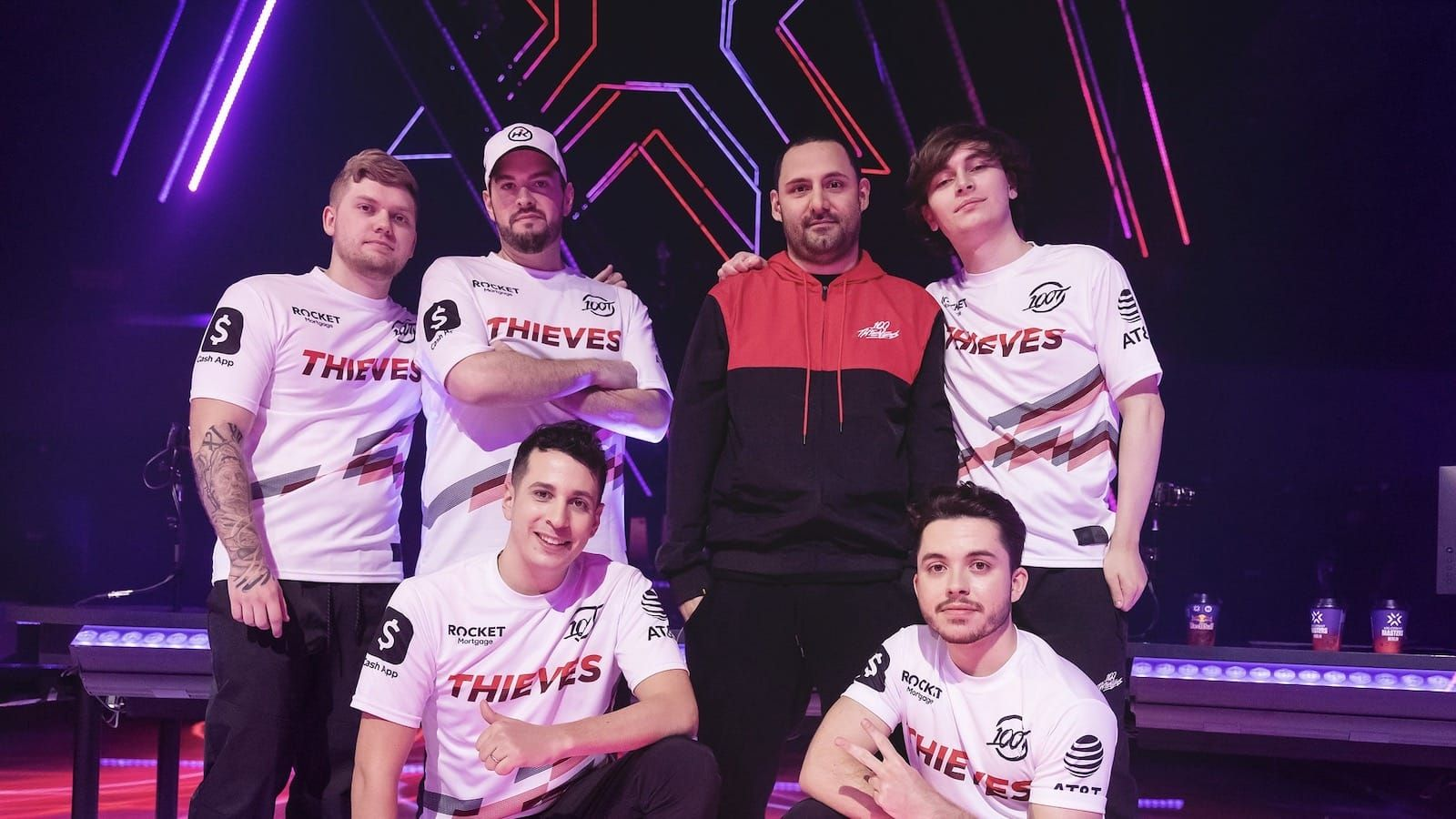 100 Thieves on stage at Masters Berlin Valorant tournament