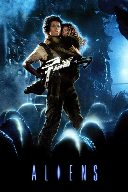 Movie poster for Aliens