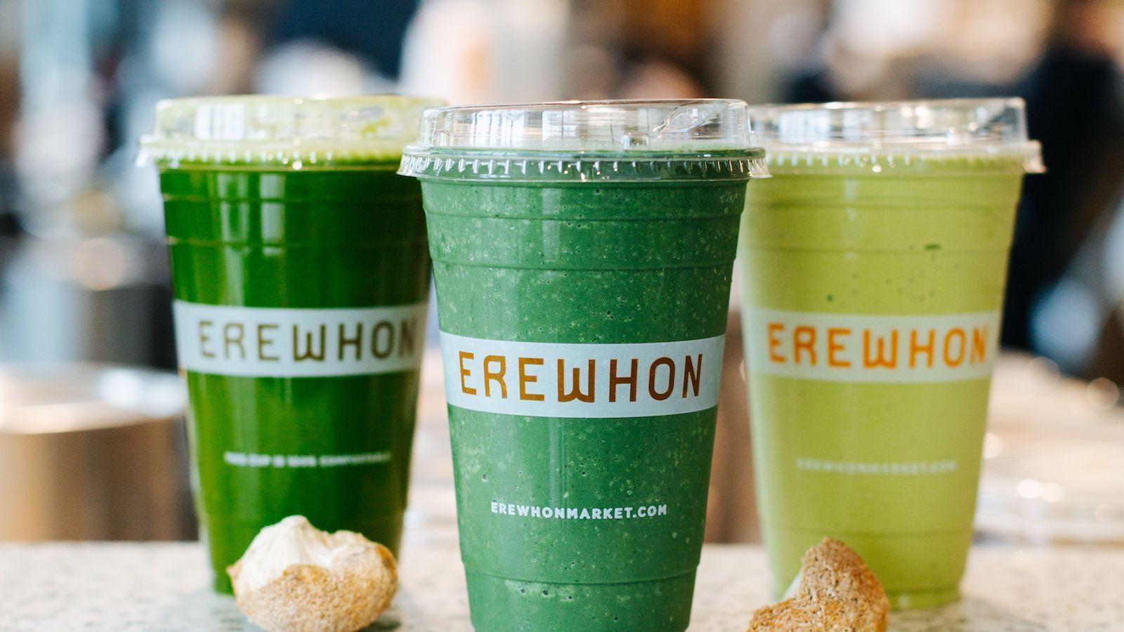 Three green drinks