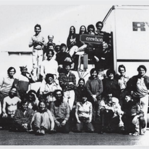 Vintage photo, group of people