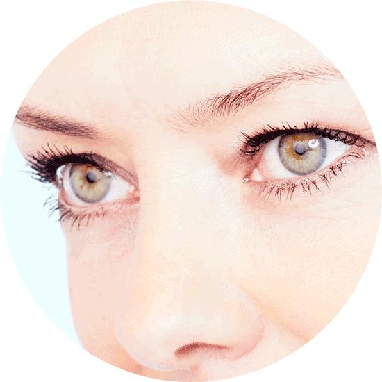 close up of woman's pretty eyes magic lift