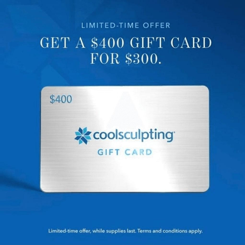 Coolsculpting $400 giftcard promotion