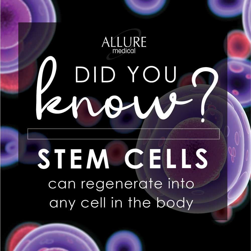did you know stem cells can regenerate into any cell in the body