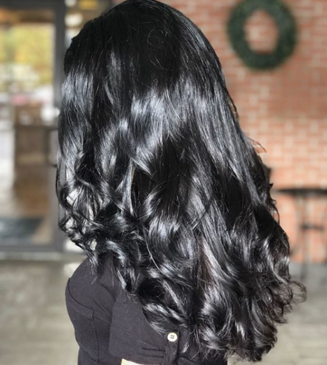 black hair color trend 2020